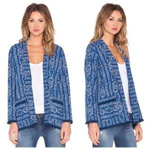 Velvet printed canvas jacket blazer